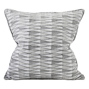 Tangier Chalk linen cushion 50x50cm