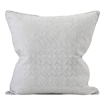 Phulkari Chalk linen cushion 50x50cm