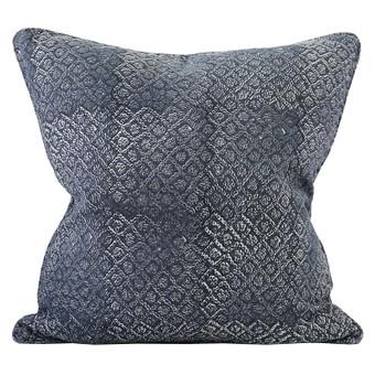 Bandhini Slate linen cushion 55x55cm
