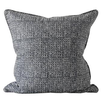 Seville Slate linen cushion 55x55cm