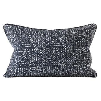 Seville Indian Teal linen cushion 35x55cm