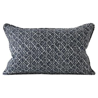 Kepos Slate linen cushion 35x55cm