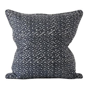Pompeii Slate linen cushion 50x50cm
