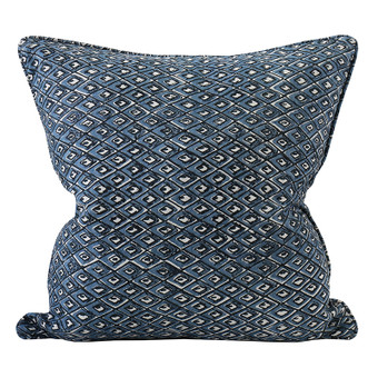 Pompeii Denim linen cushion 50x50cm
