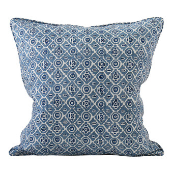 Kepos Denim linen cushion 50x50cm