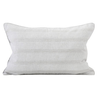 Matches Chalk linen cushion 35x55cm