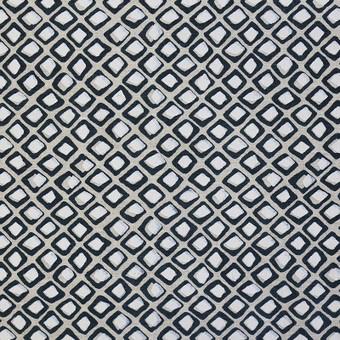 "140cm, 55"" Diamond Buti Chalk linen"