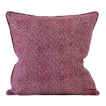 Varanasi Sangria linen cushion 50x50cm