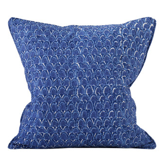 Scopello Light Lapis linen cushion 50x50cm