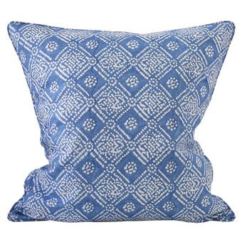 Bandol Inverse Lapis linen cushion 55x55cm