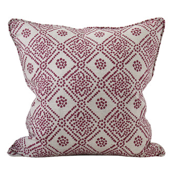 Bandol Sangria linen cushion 50x50cm