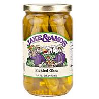 Jake & Amos Pickled Okra - Pint | Branson Missouri Food Store