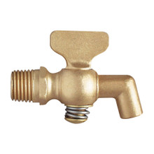 Brass Air Cock - Tee Handle with Bibb Hexagon Shoulder