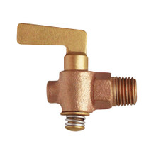 "EFI 182 3/8"" NPT Lvr Handle Cast Body Brass Drain Cock"