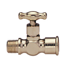 "EFI 2P 1/8"" NPT Bronze Drain Cock Male and Female"