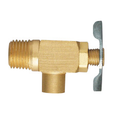 "EFI DC-101 1/8"" NPT Brass Drain Cock Side Outlet Type"
