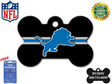 Detroit Lions Pet ID Tag - With Engraving