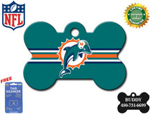 Miami Dolphins Pet ID Tag - With Engraving