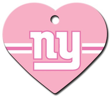 N.Y. Giants PINK Pet ID Tag - With Engraving