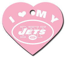 N.Y. Jets PINK Pet ID Tag - With Engraving