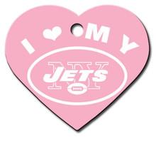 N.Y. Jets PINK Pet ID Tag - With Engraving