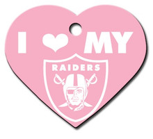 Oakland Raiders PINK Pet ID Tag - With Engraving