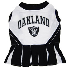 Oakland Raiders NFL Football Pet Cheerleader Outfit