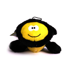 Plush Bumble Bee Squeaker Dog Toy