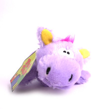 Plush Hippo Squeaker Dog Toy