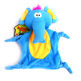 Plush Elephant Jungle-Tie Dog Toy With Squeaker