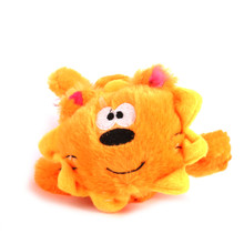 Plush Lion Squeaker Dog Toy