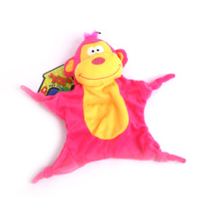 Plush Monkey Jungle-Tie Dog Toy With Squeaker