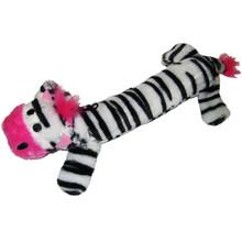Plush Zebra Squeaker Dog Toy