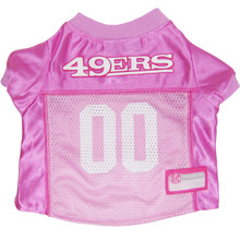 SF 49ers PINK NFL Football Pet Jersey