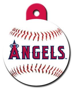 Anaheim Angels ROUND Engraved Dog ID Tag