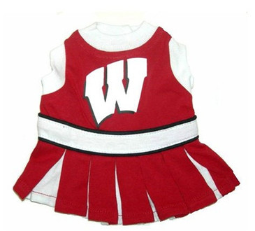 Wisconsin Badgers Dog Cheerleader Outfit