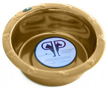 Embossed Extra WIDE RIM Stainless Steel Pet Bowl