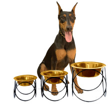 Olympic Diner Stand Raised Dog Feeder