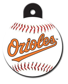 Baltimore Orioles ROUND Engraved Dog ID Tag