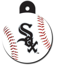 Chicago White Sox ROUND Engraved Dog ID Tag