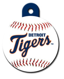 Detroit Tigers ROUND Engraved Dog ID Tag