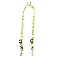 Green Daisy Coupler Dog Leash