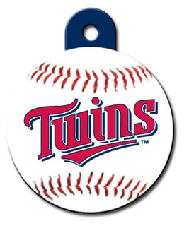Minnesota Twins ROUND Engraved Dog ID Tag