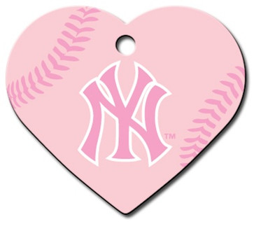 PINK NY Yankees Engraved Pet ID Tag