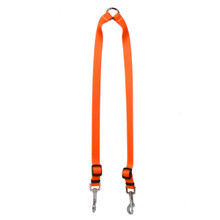 Solid Orange Coupler Dog Leash