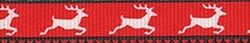 Reindeer Print Coupler Dog Leash