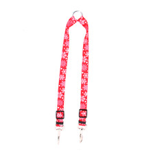 Red Snowflakes Coupler Dog Leash