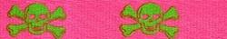 Pink and Green Skulls Coupler Dog Leash