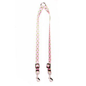 Pink and Green Polka Dot Coupler Dog Leash