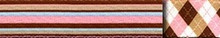 Pink and Brown Stripes Coupler Dog Leash